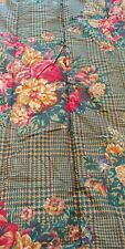 Ralph Lauren Vtg Catherine TWIN Comforter --  Green Houndstooth Floral  UNUSED