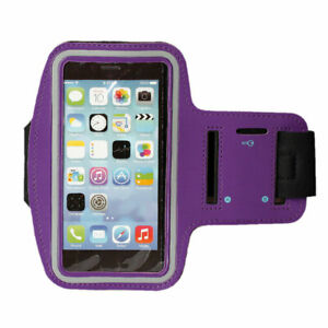 Adjustable Water Resistant Cell Phone Armband for iPhone Samsung with Key Holder