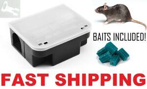 6 x PRO RAT MOUSE RODENT BAIT STATION Lockable Tamper & Weather Proof Traps