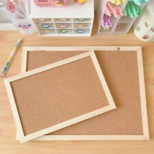 Wall Mounted Bulletin Cork Wood Hanging Board With Frame  Memo Free Shipping