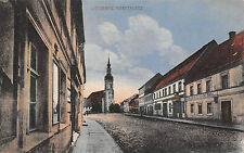 Lübbenau / Spreewald Marktplatz , Bäckerei Postkarte