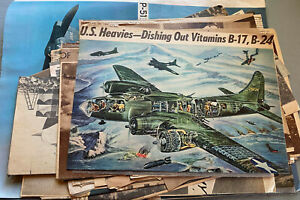 Lot of newspaper clippings World War II era warplanes