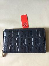 Black Friday Carolina Herrera Navy CH Leather  wallet  NWT