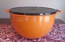 Tupperware MEGA NEW  Thatsa Bowl  10 L 42  cups Starlight ORANGE  BLACK seal
