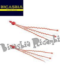 7310 - FRANGE STELLE FILANTI ROSSO BIANCHE ABBELLIMENTO MANUBRIO VESPA 50 125
