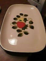 Vtg Sears STRAWBERRIES Oval Serving Platter Freezer to Oven Stoneware Japan