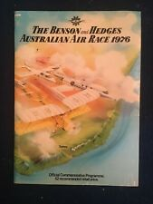 THE BENSON AND HEDGES AUSTRALIAN AIR RACE 1976 PROGRAMME BOOK