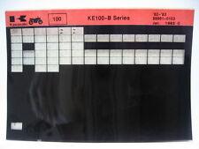 Kawasaki KE100 B Series 1982 1983 Microfiche NOS k147