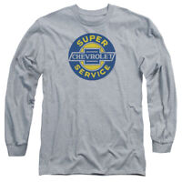 Chevrolet CHEVY SUPER SERVICE Licensed Adult Long Sleeve T-Shirt S-3XL