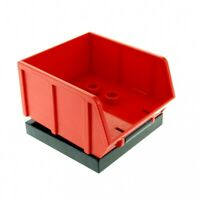 1 x Lego Duplo LKW Aufsatz schwarz rot Kipp Lade Platte 4 x 4 Kipper Baustelle A
