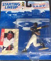 ALBERT BELLE Chicago White Sox Kenner Starting Lineup MLB 1997 Figure Card Gift