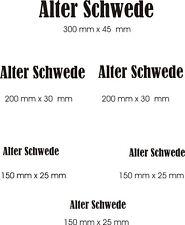 """KFZ Aufkleber, Hochleistungsfolie - 6 x """"Alter Schwede"""" in verschiedene Größen"""