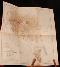 1891 EAST AFRICAN Glaciers KILIMANJARO Meyer First Ed