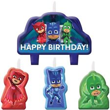 PJ Masks Birthday Party Supplies Candle Set For Cake Decoration