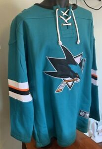San Jose Sharks Jersey Mens XL Fanatics Sweatshirt Style Fleece NWT