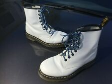 Dr Martens 1460 white smooth leather boots UK 5 EU 38