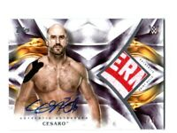 WWE Cesaro 2019 Topps Undisputed Purple Autograph Shirt Relic Card SN 2 of 5