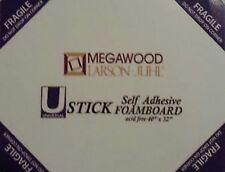 Foam Board U Stick Self Adhesive Box of 25 Sheets ACID FREE 5mm 32 x 40inch