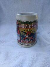 Budweiser 1991 Bottled Beer Label Logo Stein Mug Anheuser-Busch vintage