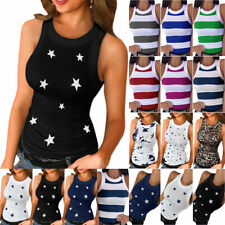 Women's Summer Vest Sleeveless T-shirt Tank Tops Slim Fit Casual Holiday Blouse