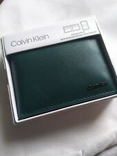 Calvin Klein men's Aviator Emerald Green Wallet Passcase with ID