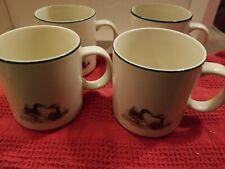 Richard E. Bishop 1982 Coffee Cup Mug Showing Mallards Original Etching Lot Of 4