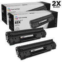 LD Compatible Toner Cartridge Replacement for HP 83X CF283X High Yield (Black,