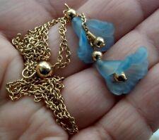 """Vintage Avon Flower Bells, gold toned, necklace 20"""""""