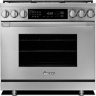 """Dacor Professional HDPR36SNG 36"""" Stainless Steel Freestanding Dual-Fuel Range  photo"""