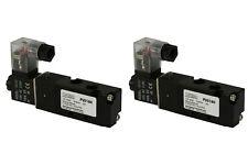 2x 110V AC Solenoid Air Pneumatic Control Valve 5 Port 4 Way 2 Position 1/8