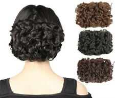 Curly Messy Bun Combs Chignon Scrunchie Updo Cover Hair Extension for Lady