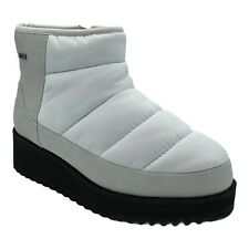 UGG RIDGE MINI WHITE WATERPROOF PUFFER WOMEN'S ANKLE BOOTS US SIZE 7