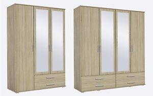 Rauch 'Rasant' 3 or 4 Door Wardrobe, Sonoma Oak. German Bedroom Furniture.