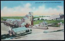 1930s 1940s Postcard ~ LEAD and ZINC MINES in Southeastern KANSAS, Free Shipping