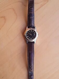 MICHELE VINTAGE AVIATOR LEATHER WRIST WATCH  WOW