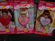 2002 MY LIL HEART VALENTINE DAY KELLY, JENNY & BELINDA SET OF 3 DOLLS!! BARBIE
