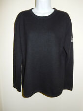 MOVIES FOR MOVIE LOVERS 100% CASHMERE BLACK CREWNECK LONG SLEEVES SWEATER L/XL