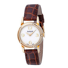 Orologio donna Damiani D Side 30001818 diamanti PELLE GOLD watch ORO 18 KT