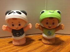 Fisher Price Little People Babies Frog and Panda Designs New