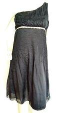 HOSS INTROPIA silk one shoulder dress size 8 --MINT-- Knee length 100% Silk