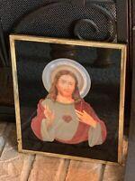 Holographic Jesus 8 X 10 Vtg Framed & Totally Awesome!