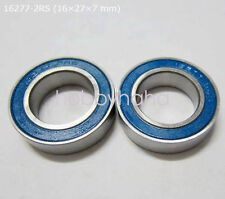 NEW 2pcs 16277-2RS Rubber Sealed Ball Bearing 16x27x7mm For Rear Hub Bicycle
