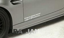 2 -  SuperCharged Racing edition Sport Vinyl Decal skirt sticker WHITE