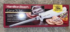 Nib Hamilton Beach 74250 Carve 'n Set Electric Knife w/Case, White ~ Nos