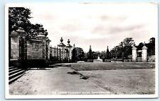 1950s Louise Carnegie Gates Dunfermline Fife Scotland Vintage Photo Postcard C84