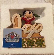Jim Shore Disney Mickey Mouse Joy Christmas Word Plaque 4033261 Rare New