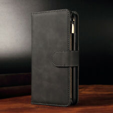 Retro Leather Zipper Card Wallet Case Cover For Asus ZS620KL ZE620KL ZE554KL