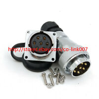 WS28 7pin Waterproof Connector, IP67 7 wire Aviation Power Cable Connector Plug