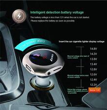 Gold Bluetooth Car Kit Handsfree FM Transmitter MP3 Player USB Charger mushroom