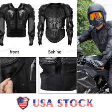Motorcycle Full Body Armor Jacket Spine Chest Protection Gear - M L XL 2XL